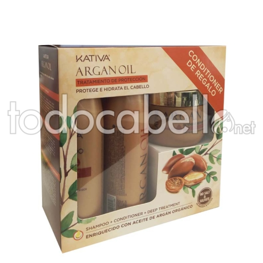 Kativa Pack Argán Oil Dry, damaged and dull hair
