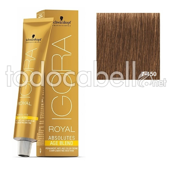 fea5595dae Schwarzkopf Igora Royal Absolutes AGE BLEND 7-450 Blonde Medium Beige  Golden 60ml 1