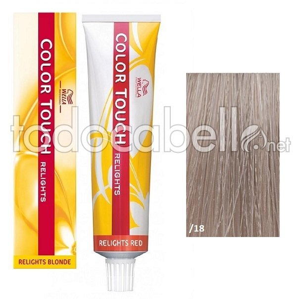 Wella Tint Color Touch Relight 18 Ash Pearl 60ml Smooth Emulsion